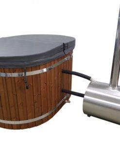 Ofuruo glasfiber badtunna (extern kamin)