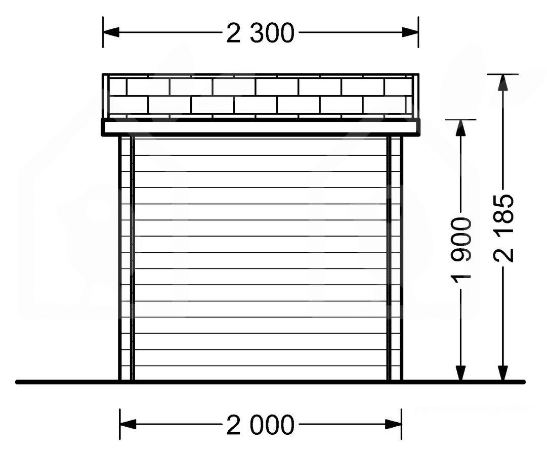 F rr d cube 2m x 2m 20 mm for Bett 2m x 2m