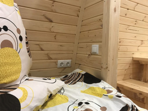 Lyxig Isolerad Camping Pod 6,6 m (med sideindgang)