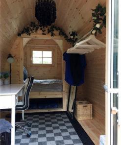 Lyxig Isolerad Camping Pod 4.8 m