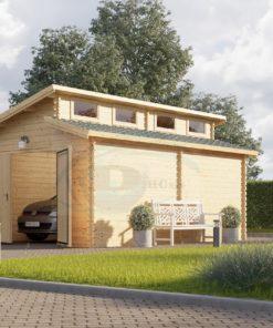 Twin trä garage 24m², 44mm