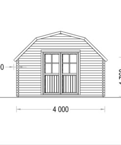Timmerstuga ORLANDO 16 m² (4x4) 34mm